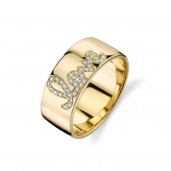 gold plated love ring