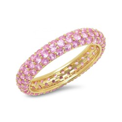 gold zirconia ring - light pink