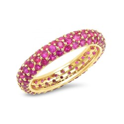 Gold plated ruby zirconia  ring