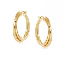 entwine hoop earrings 18k gold plated