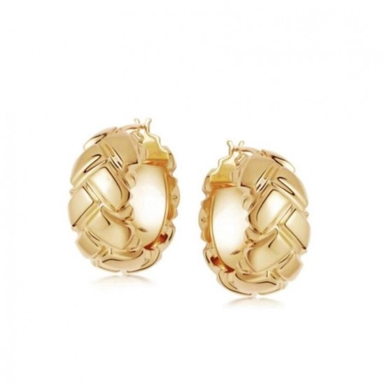 gold chunky hoop earrings