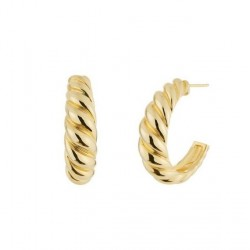 Gold Plated Twisted Hoop Earrings