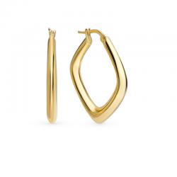 Square Hoop Earrings 18k gold plated