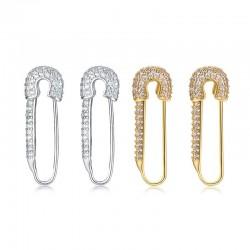 Safety Pin Hoop earrings