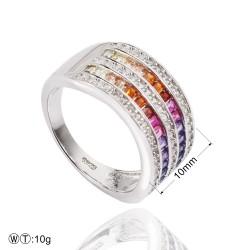 Fancy rainbow ring - round design