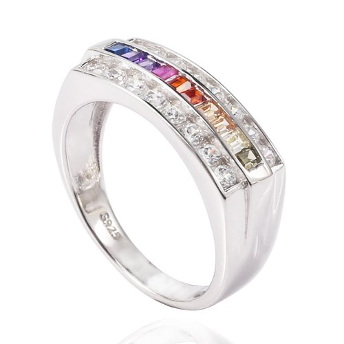 sterling silver rainbow ring - new design
