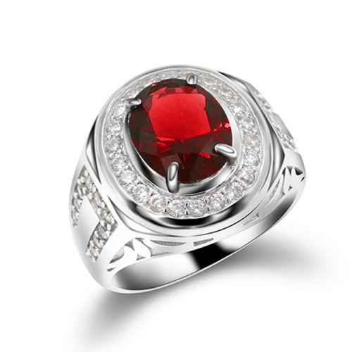 925 sterling silver ring fot men with AAA zircon  stone