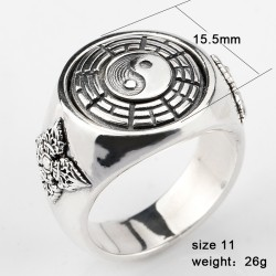 925 sterling silver ring for men - Yin And Yang symbole