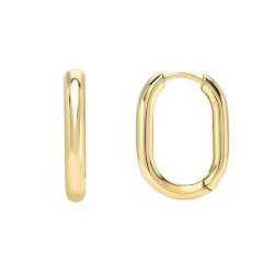 Square Hoop Earring In Gold Plated Silver