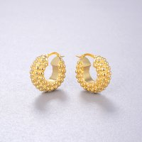 chuncky earring -  18k gold plated