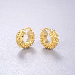 chuncky earring -  18k gold plated