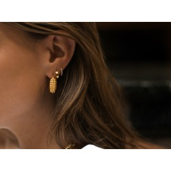 chunky earring -  18k gold plated