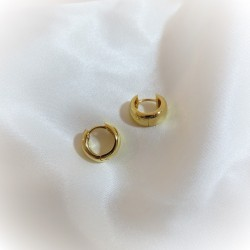 Thick Hoop Earring - 18k gold plated silver