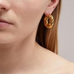 twisted gold hoop earrings vintage style