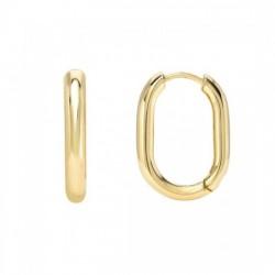 oval hoop earrings in gold plated silver