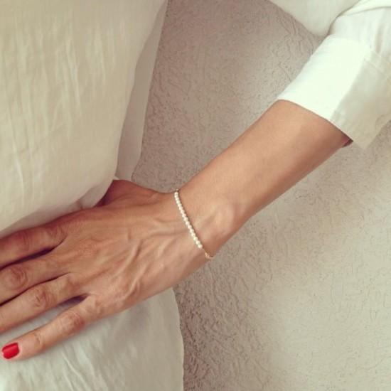 14k gold filled bracelet with pearls