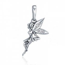 fairy charm in sterling silver