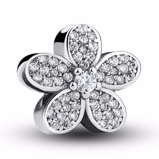 Flower bead with zirconia