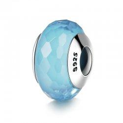 Aquamarine glass bead