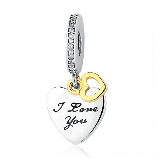 """I love you forever"" pendant charm"