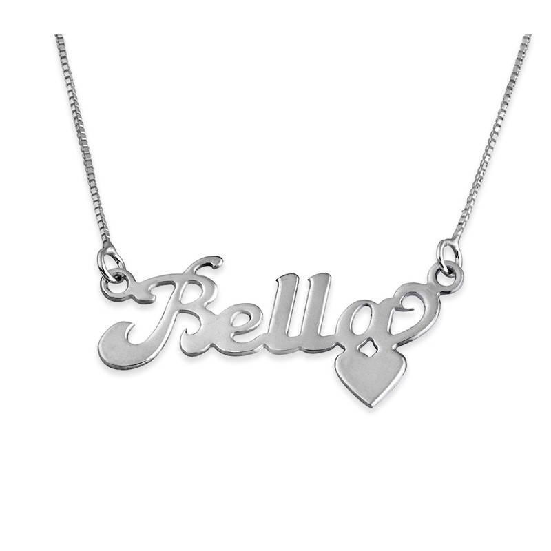silver name and heart at the bottom envyher personalized jewelry