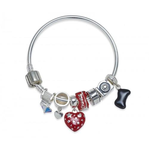 Silver Playful Charm Bracelet