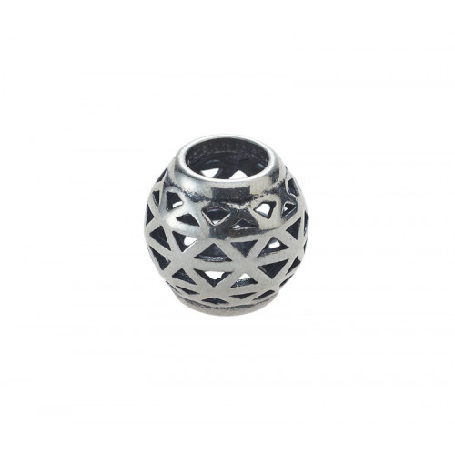 Silver triangle bead