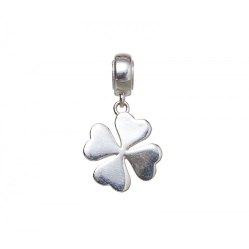 Silver clover charm