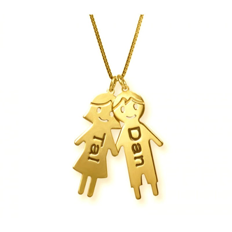 18k gold plated children pendant necklace envyher personalized 18k gold plated children pendant necklace aloadofball Choice Image