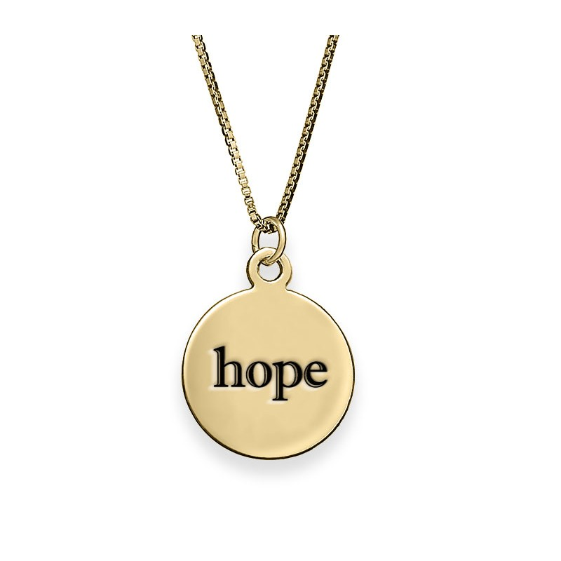 18K Gold Plated Personalized Disc Necklace