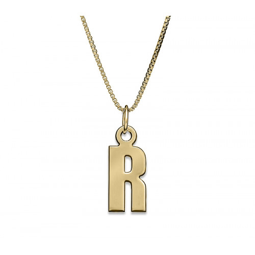 Gold Plated One Letter Necklace