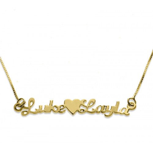Name Heart Name Necklace