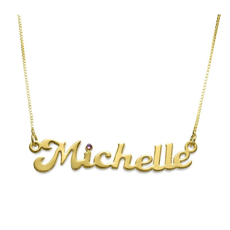 Name Necklace With Swarovski Stone   EnvyHer- Personalized Jewelry