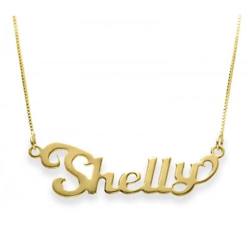 Gold Contemporary Name Necklace