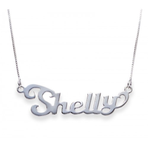 Sterling Silver Classic Name Necklace With Contemporary Font