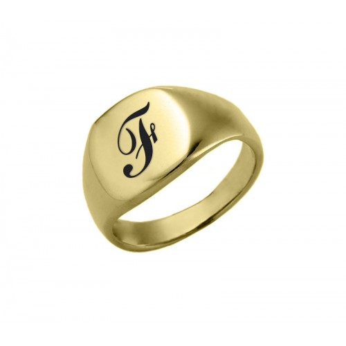 Gold Plated Rounded Rectangle Ring