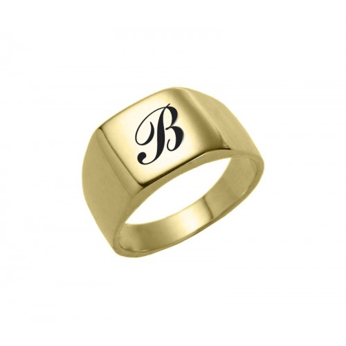 18K Gold Plated Rounded Square Ring