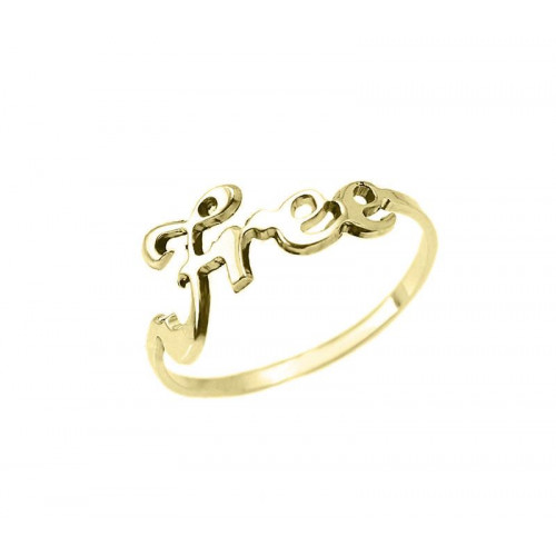 Gold Plated Word Ring