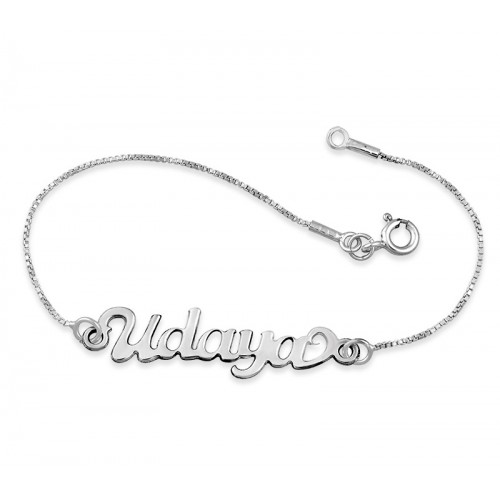 Sterling Silver Name Anklet