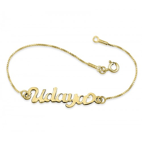 Gold Plated Name Anklet
