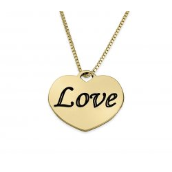18K Gold Plated Personalized Heart Necklace