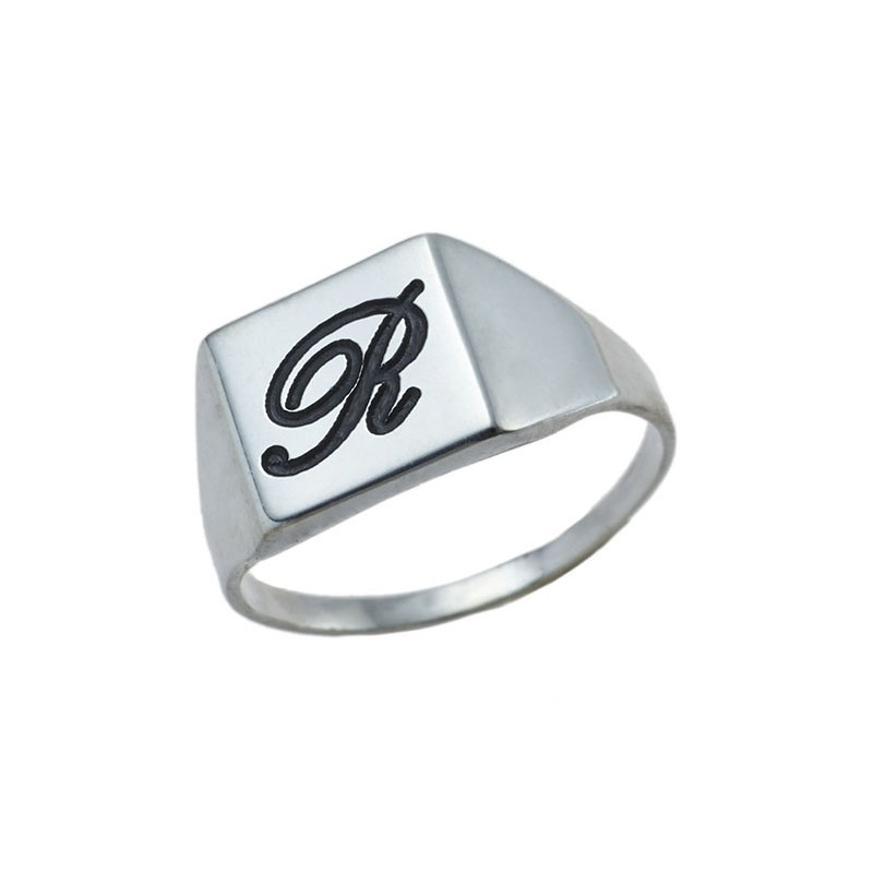 Silver Signet Ring Square Shaped