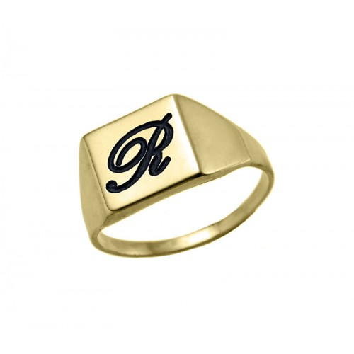 Gold Plated Small Square Ring