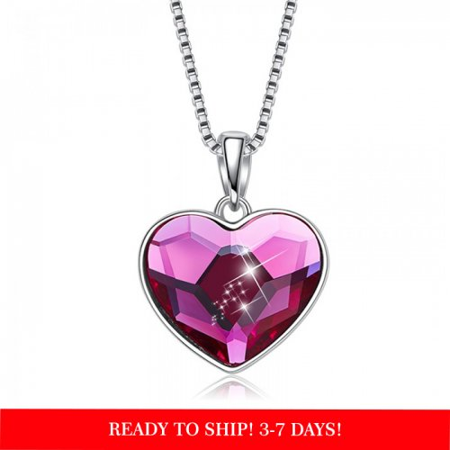 Crystal From Swarovski heart pendant necklace