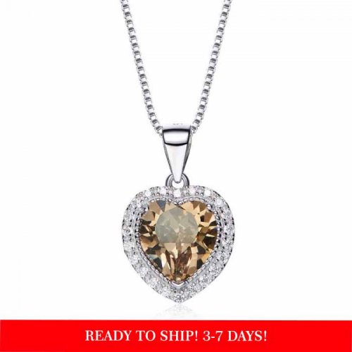 heart shaped swarovski Birthstone necklace - August
