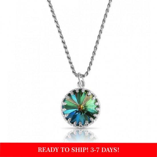 "crystal from swarovski necklace with round stone - "" crystal vitrail medium"""