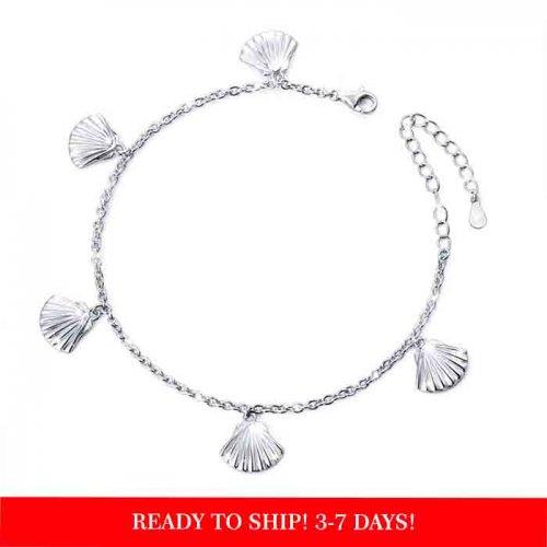 seashell bracelet in 925 sterling silver